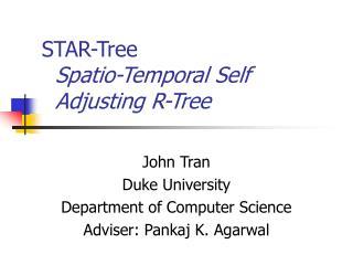 STAR-Tree Spatio-Temporal Self   Adjusting R-Tree