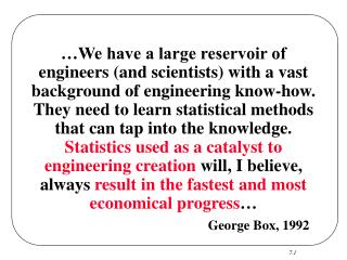 George Box, 1992