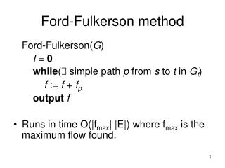 Ford-Fulkerson method