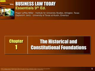 The Historical and  Constitutional Foundations