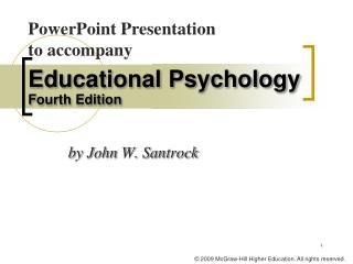Educational Psychology  Fourth Edition