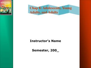 Instructor�s Name Semester, 200_