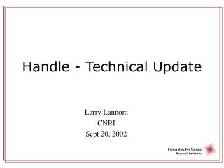 Handle - Technical Update