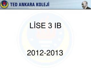 LİSE 3 IB