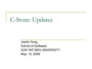 C-Store: Updates