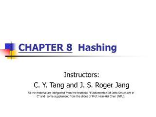 CHAPTER 8  Hashing