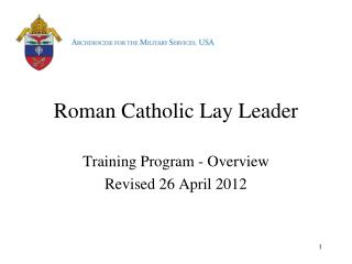 Roman Catholic Lay Leader
