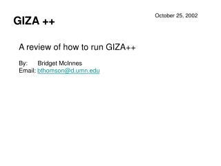 GIZA ++