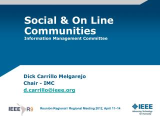 Social & On Line Communities Information Management Committee