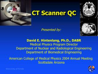 CT Scanner QC