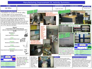 Manufacturing Improvement 5C Activity Summary