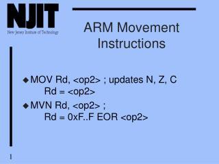 ARM Movement Instructions