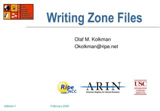Writing Zone Files