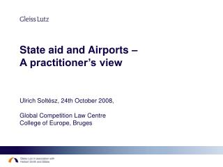 Airports and State aid – two aspects:
