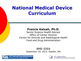 National Medical Device Curriculum