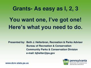 Grants- As easy as I, 2, 3