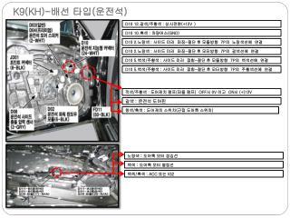 K9(KH)- 배선 타입 ( 운전석 )