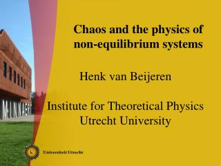 Chaos and the physics of  non-equilibrium systems