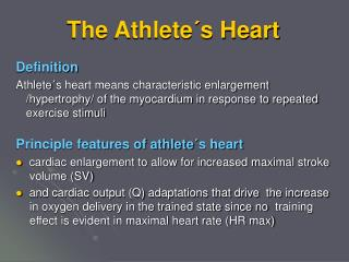 The Athlete´s Heart