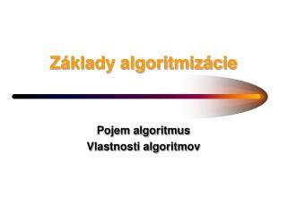 Z�klady algoritmiz�cie