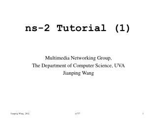 ns-2 Tutorial (1)
