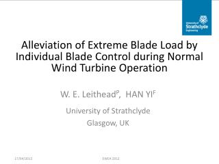 Alleviation of Extreme Blade Load by Individual Blade Control during Normal Wind Turbine Operation