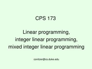 CPS 173