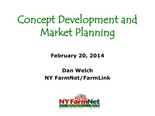 Concept Development and Market Planning