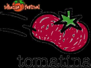 Thousands of people flock to the village to join in the tomato-throwing event.