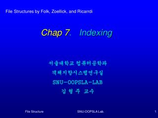 Chap 7 .   Indexing