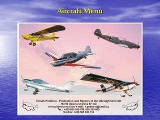 Aircraft Menu