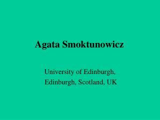 Agata Smoktunowicz