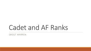 Cadet and AF Ranks