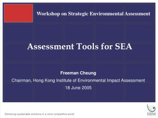 Assessment Tools for SEA