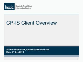 CP-IS Client Overview