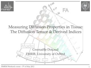 Measuring Diffusion Properties in Tissue: The Diffusion Tensor & Derived Indices