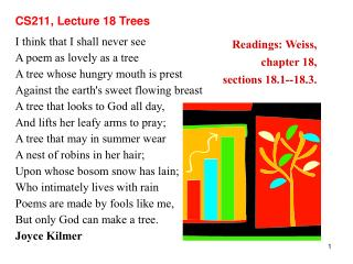 CS211, Lecture 18 Trees