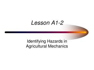 Lesson A1-2
