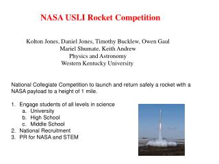 NASA USLI Rocket Competition
