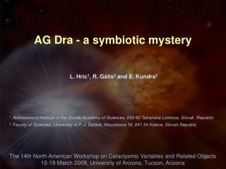 AG Dra - a symbiotic mystery