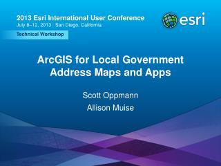 ArcGIS for Local Government Address Maps and Apps
