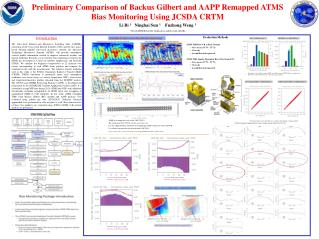 Preliminary Comparison of Backus Gilbert and AAPP Remapped ATMS Bias Monitoring Using JCSDA CRTM