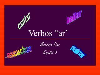 """Verbos """"ar'"""