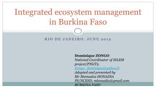 Integrated ecosystem  management in Burkina Faso