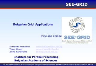 Bulgarian Grid  Applications