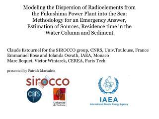Claude Estournel for the SIROCCO group, CNRS, Univ.Toulouse, France