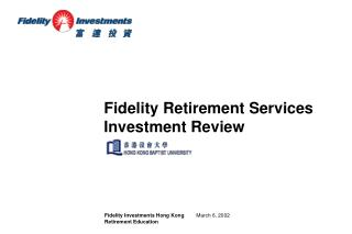 Fidelity Investments Hong Kong Retirement Education