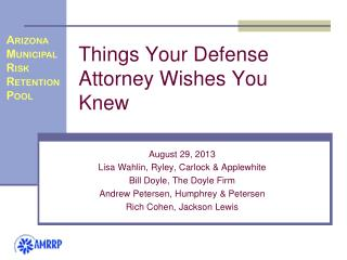 Things Your Defense Attorney Wishes You Knew