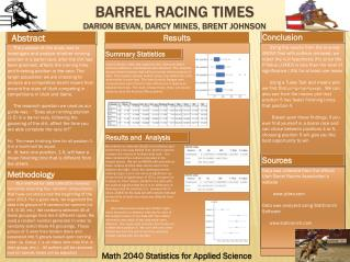 Barrel Racing Times Darion Bevan, Darcy Mines, Brent Johnson