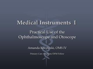 Medical  Instruments  I